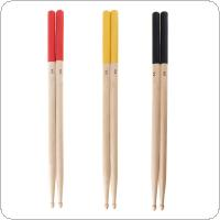 1 Pair 5A Maple Drumsticks Professional Wood Drum Sticks Multiple Color Options for Drum