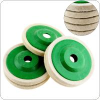 5pcs Multifunction Wool Polishing Disc Pads with 100mm External Diameter and 16mm Inner Diameter for Angle Grinder
