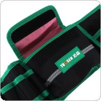 Multifunction Durable Waterproof Waist Tool Bag with 4 Holes 1 Pocket and Electric Drill Pocket for Home / Industrial Maintenance