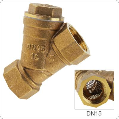 "1/2"" Brass Central Pneumatic Valves Filter with Y-type and 3 Way 3 Position for Draining sewage"