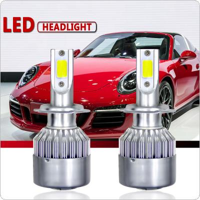 2pcs H7 60W 1000LM 6000K White Bulbs LED Headlight High/Low Beam  HID Xenon for Cars