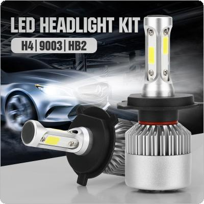 2pcs H4 72W 8000LM 6000K White LED Headlight High/Low Beam Head Lamp for Cars