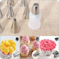24pcs Stainless Steel Nozzle Tips Set Cake Decorating Tools Mould with Coupler Converter for DIY Baking Decorating Tools