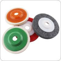 4pcs Multifunction Wool Polishing Disc Pads and Nylon Wheels with 100mm External Diameter and 16mm Inner Diameter for Angle Grinder