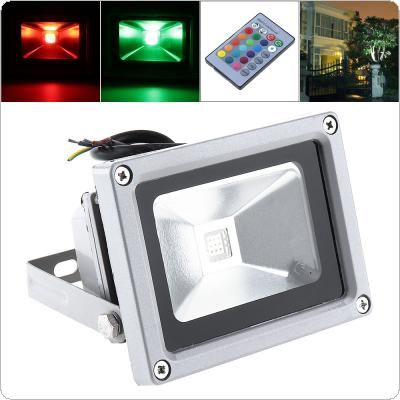 Colorful 10W 1000LM Security Lamp Waterproof IP65 LED RGB Floodlight with Remote Control Support 90-240V for Garden / Outdoor
