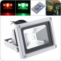 Colorful 10W 900LM Security Lamp Waterproof IP65 LED RGB Floodlight with Remote Control Support 90-240V for Garden / Outdoor