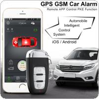 PKE Smartphone Start Car Smart Alarm Remote Initiating System Start Stop Engine System with Auto Central Lock and Vibration Alarm