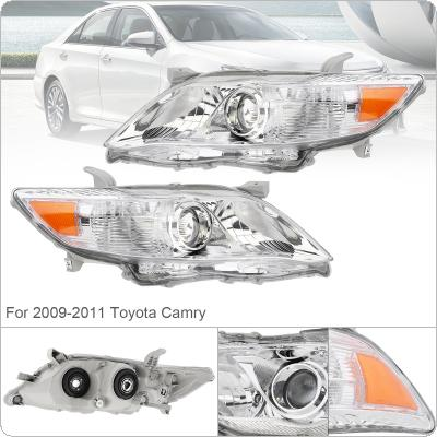 1 Pair Waterproof Durable Headlamp Clear Projector Left And Right Headlight Replacement US Built Model 2010-2011 Toyota Camry
