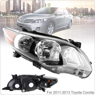 Waterproof Durable Driver Side Headlight  for 2011-2013 Toyota Corolla Base/CE/LE