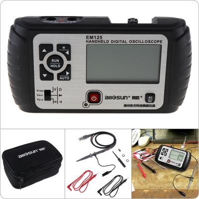 EM125 2 In 1 Portable Multifunction LCD Display Handheld Digital Oscilloscope with LED Backlight Support Digital Multimeter Function