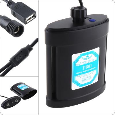 Portable Bicycle Mobile Power Box with Wine Pot Type and USB Interface Support 2pcs 26650 Battery for Bicycle Lights