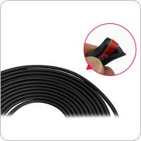 5M PVC Black Hidden Door Anti-collision Anti-rubbing Protection Sticker with Strong Waterproof Double-sided Adhesive