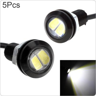 5pcs White 6000K  Eagle Eye 9W 18MM 5730 Chip Car Fog Light DRL Bulb Reverse Backup Parking Signal