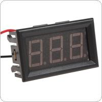 YB27 DC 4.5-30V Red LED Display Panel Digital Voltmeter for Car / Motorcycles