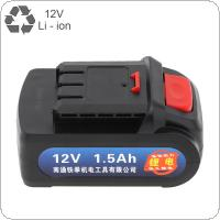 Universal 12V Max 3 x 1500mAh Li-ion Rechargeable Battery with Flat Push Type for Electric Drill / Electric Screw Driver