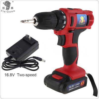 AC 100 - 240V Cordless 16.8V Electric Drill / Screwdriver with 18 Gear Torque and Two-speed Adjustment Button for Handling Screws / Punching