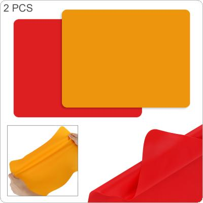 2pcs Rectangle Thickened Waterproof Silica Pads with Antiskid Insulation Desk Mattress for Home