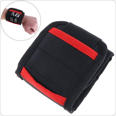 Portable Strong Magnetic Wristband Pocket Tool Bag Holding Screws Nails Drill Bits for Repair Tools