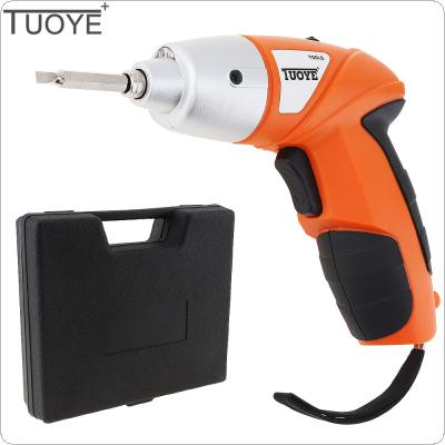 TUOYE 4.8V Mini Rechargeable 110 / 220V Electric Screwdriver 45pcs Combination Sets with Bidirectional Button and LED Light for Home / Office