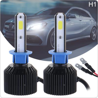 72W H1 8000LM 6000K All-In-One LED Headlight Kit High/Low Beam Bulbs Automotive LED Headlamps for Cars