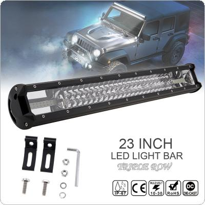 7D 23 Inch 540W Car LED Worklight Bar Triple Row Spot Flood  Combo Offroad Light  Driving Lamp for Truck SUV 4X4 4WD ATV