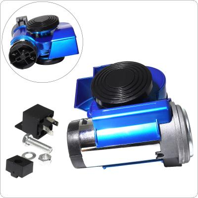 12V 139dB Car lacquer Blue Snail Compact Dual Air Horn for Car Vehicle Motorcycle Yacht Boat SUV