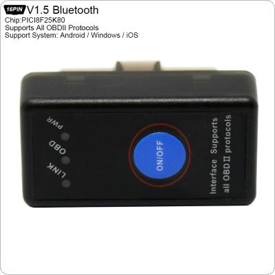 ELM327 PICI8F25K80 Bluetooth4.0 v1.5 Super Mini Scanner Wireless Interface Auto Interface Code Readers Diagnostic Tool OBDII Protocols with Switch
