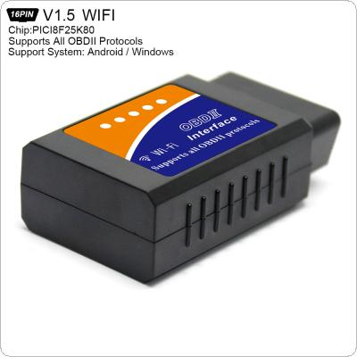 ELM327 V1.5 PICI8F25K80 Super Mini WiFi Scanner Wireless Interface Auto V03HW-1 Interface Code Readers Diagnostic Tool OBDII Protocols