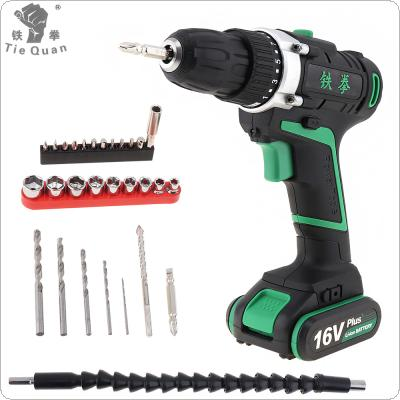 100 - 240V Cordless 16V Electric Drill / Screwdriver with Rotation Adjustment Switch and 29pcs Accessories Set for Handling Screws / Punching