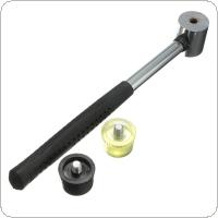 2pcs 25mm Rubber Hammer Replaceable Hammer Head Double Faced Work Glazing Window Beads Hammer Nylon Head Mallet Tool