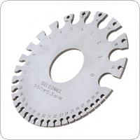 A3C08 Round Wire Gage Stainless Steel Wire Sheet Thickness Diameter Gauge for Measuring Various Wire Diameter