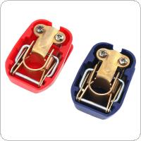 1 Pair 12v Brass + Plastic Car Release Battery Disconnect Switch Terminals Clamps
