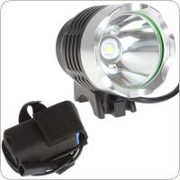 3-Modes 500LM LB-XL T6 LED  Bicycle Light Headlamp with 2800mAh Rechargeable Battery Pack and Charger Convenient