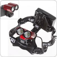 600LM 2X 3W XPE LED Light High Power Rechargeable Bike Bicycle Headlamp
