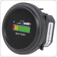 12/24V 36V 48/72V Universal Three-color LED lights Battery Indicator Charge Status Meter