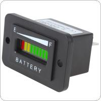 12/24V 36V 48V Three-color 10-Bar LED Battery Indicator Meter Charge Indicator