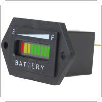 12/24V 36V 48V Rectangle Three-color LED Battery Charge Status Indicator