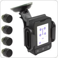 Tire Pressure Monitor System Support Spare Tire Monitoring with 4 Sensors