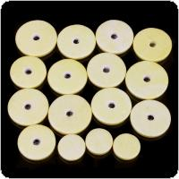 16pcs Yellow Close Hole Flute Leather Pads Mat Musical Instruments Accessories