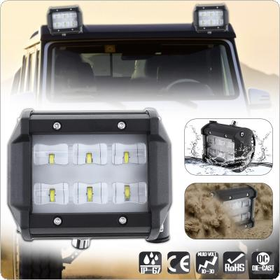 4 Inch 30W 6000LM Car Work Light with Two Rows light Bars for Off-road Car / Pickup / Wagon