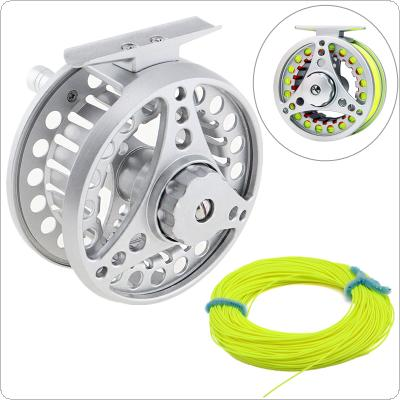 Aluminum Alloy Fly Fishing Reel 7/8 Large Former Ice Fishing Reel + 100ft 30.5m Fly Fishing Line