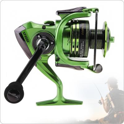 6000 Series 13+1 Ball Bearings 4.7:1 All-Metal Foldable Arm Spinning Fishing Reel with EVA Handle