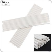 20pcs/set 7mmx300mm White Strong Viscose Hot-melt Gun Glue Sticks Environmental Protection Manual DIY Tools for Hot-melt Glue Gun Repair Accessories