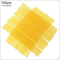 100pcs/set 7mmx200mm Transparent Yellow Strong Viscose Hot-melt Gun Glue Sticks Environmental Protection  Tools for Hot-melt Glue Gun Repair Accessories