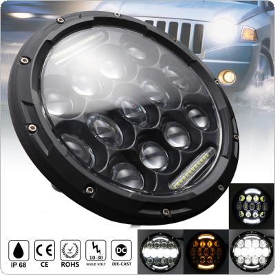 7 Inch Round 105W LED Headlight with Turn Signal DRL for Jeep Wrangler Jk Tj Harley Davidson