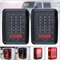 Smoked LED Tail Lights Fit for 2007-2017 Jeep Wrangler Brake Reverse Light Rear Back Up Lights Daytime Running Lamps DRL