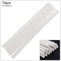 10pcs/set 7mmx300mm White Strong Viscose Hot-melt Gun Glue Sticks Environmental Protection Manual DIY Tools for Hot-melt Glue Gun Repair Accessories