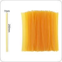 20pcs/set 7mmx200mm Transparent Yellow Strong Viscose Hot-melt Gun Glue Sticks Environmental Protection DIY Tools for Hot-melt Glue Gun Repair Accessories