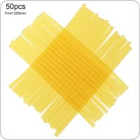 50pcs/set 7mmx200mm Transparent Yellow Strong Viscose Hot-melt Gun Glue Sticks Environmental Protection DIY Tools for Hot-melt Glue Gun Repair Accessories