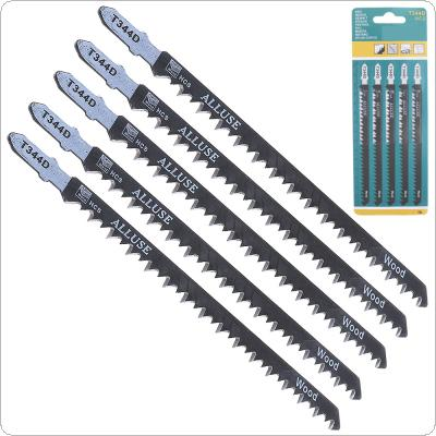 5pcs/set T344D 150mm High-carbon Steel Reciprocating Saw Blades Straight Cutting Jig Saw for Woodworking / Plastic PVC